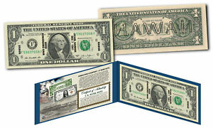 HAWAII $1 Overprint WWII Emergency Pearl Harbor Modern Legal Tender U.S. $1 Bill