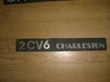 Emblem / Badge Citroen 2 CV6 Charleston aus Metall, ca. 240 x 30 mm