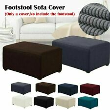 Stretch Ottoman Cover Footstool Slip Protector Square Pouf Slipcover Rectangle