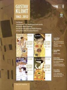 SAN MARINO 2012 150°ANNIVERSARIO DELLA NASCITA DI GUSTAV KLIM U.BF 116 FOGLIETTO