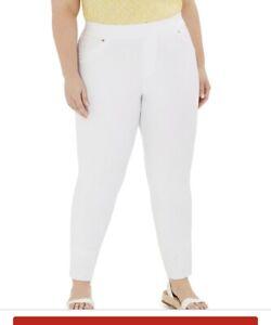 $74 Michael Kors Plus 3x Stretch Twill White Leggings SJ1d