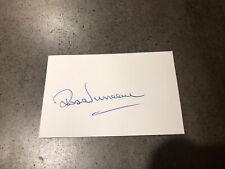 New listing White card Signed By Australian cricketer John Duncan W/COA