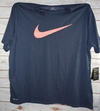 9d1ae02e522 Nike DriFit Cotton Big Swoosh T Shirt Men Big tall Size 3xlt Blue orange C2