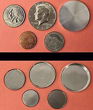 Shimmed Shell Coin Sample Pack (5): Penny, Nickel, Quarter, Half & Blank Half