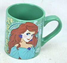Disney Little Mermaid Ariel Coffee Mug 14 oz Ceramic Green