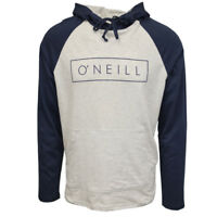 O'Neill Men's Classic Navy/Light Heather Gray Light Weight L/S Pull Over Hoodie