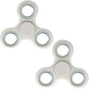 2x Finger Hand Spinner Handspinner Fingerspinner Anti Stress Handkreisel in Weiß
