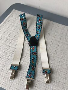 vintage Mickey Mouse blue/red braces suspenders child size elasticated