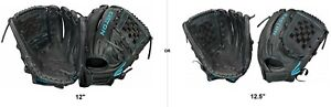"""Easton BLACK PEARL Girl's Fastpitch Softball 12""""/12.5"""" Glove, Right-Handed Throw"""