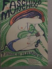 70ER JAHRE PLAKAT FASCHING MÜNCHENPOP ART