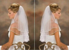 New white 2-Layer Bridal Veil Wedding Veils With Comb