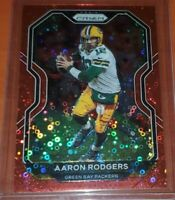 2020 Aaron Rodgers No Huddle Prizm Numbered 06/50 MINT And CENTERED