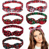 Xmas Women Headband Twist Hairband Bow Tie Christmas Headwrap Hair Band Hoop New
