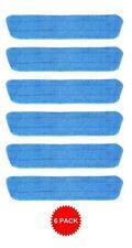 6 Blue Microfiber Wet Mop Pads Refill Fits Starfiber, Bona, Libman, Scoth-Brite