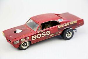 "Vintage MPC 1965 Pontiac GTO ""The Boss"" Built Model Car Junkyard plastic Rare"
