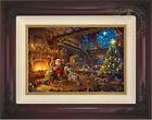 Thomas Kinkade Santa's Workshop 12 x 18 Limited Edition S/N Framed Canvas