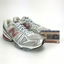 New Balance Womens 1090 Silver Red Running Shoe Size 6 B Made in USA