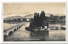 Geneva,Ile Rousseau & Mont Blanc Bridge, Exp Letter & Automobile Slogan PMK 1929