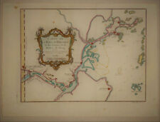 1750 Genuine Antique Map China,Yangtze River detail. by J.N. Bellin