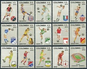 Colombia C720a-C720o,MNH.Michel 1562-1576. World Soccer Cup Spain-1982
