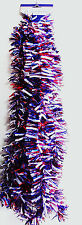 4TH OF JULY GARLAND PATRIOTIC 9FT GARLAND BRILLIANT RED WHITE & BLUE COLORS