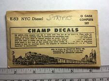 E-53 Champ Decals NYC Diesel  stripes