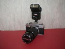 35mm German camera Praktica LTL 3 with lens HANIMEX MC AUTO ZOOM 4.5/80-200mm