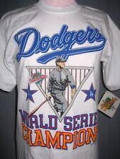 Vintage Deadstock 1988 Los Angeles LA Dodgers Adult Small World Champ T-Shirt S
