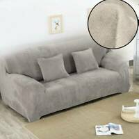 Easy Sofa Slip covers Stretch Protector Soft Cover Thick Plush Velvet 4 seat