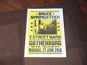 BRUCE SPRINGSTEEN 2016 GOTHENBURG POSTER MINT