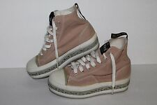 POST Platform Casual Sneaker, Tan/White/Grey, Women's US Size 6, JP 225