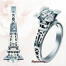 White Gold Plated Solitaire Fashion Rings