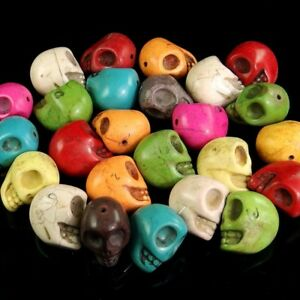 multi color skull statue stone spacer beads 30mm wholesale jewelry DIY