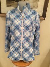 Izod Women's Spring Weight Golf Wind/Water resistant Windbreaker Plaid NWT