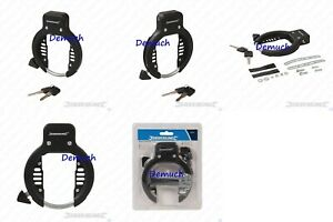 Bike BICYCLE FRAME LOCK with 2 Keys Security Anti Theft Wheel Safe Ring Style ✔