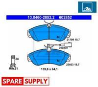 BRAKE PAD SET, DISC BRAKE FOR CITROËN FIAT PEUGEOT ATE 13.0460-2852.2