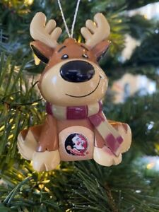 Florida State Seminoles Reindeer Christmas Holiday Tree Ornament FREE SHIPPING