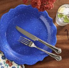 New listing (12) Pioneer Woman Juliette Salad Plates , Cobalt Blue Speckled Vintage Vhtf