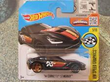 Hot Wheels 2016 #180/250 2014 CORVETTE STINGRAY black Speed Graphics Case D