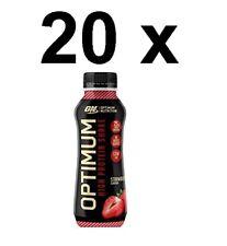 20 x Optimum Nutrition Protein Strawberry Shake 330ml FULL CASE BBE 06/09/20
