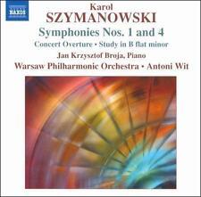 Karol Szymanowski: Symphonies Nos. 1 & 4 (2009, Naxos CD) NEW - FREE S&H