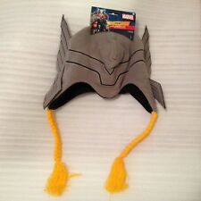 """NEW Thor Peruvian Hat Marvel ~11""""x8"""" Teen Adult Cords Official License"""