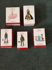 LOT OF 5 DISNEY  HALLMARK ORNAMENT PHINEAS/BARBIE/PLANET OF THE APES/DIVERGENT