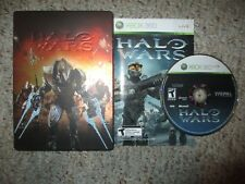 Halo Wars Limited Edition (Microsoft Xbox 360, 2009) Complete in Steel Book Tin