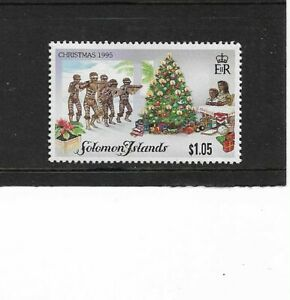 1995 Solomon Islands - Christmas Issue - Single Stamp  - Unmounted Mint.