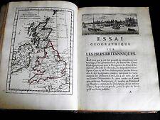 BELLIN Essai Géographique sur les Isles Britanniques 36 VIGNETTES 5 CARTES 1757