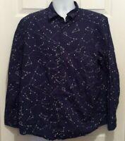 ThinkGeek Shirt Men's XL Dark Blue White Constellation Science Teacher