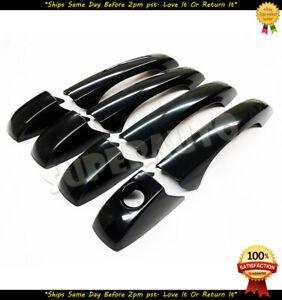 For 2004-2010 Chrysler 300 8pcs Black Door Handle Covers Trim Journey Avenger