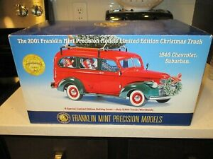 Franklin Mint 2001 Christmas Truck 1946 Chevrolet Suburban Limited Edition 3721