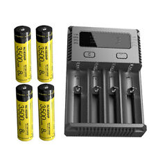 4x Nitecore NL1835HP 3500mAh 18650 Li-ion Battery w/ I4 Charger